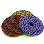 4 inch 100mm flexible diamond dry polishing pads dry grinding disc for granite marble Engineered stone