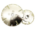 Reinforcement Electroplated diamond saw blade with flange insert